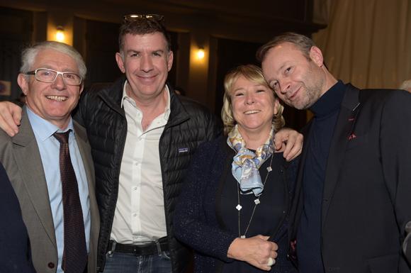 45. Elie Cunat, DG du Groupe Gauduel, Nicolas Winckler (Lyon People), Marie Roussille et Marco (Lyon People)