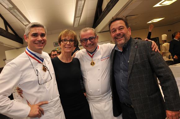 50. Benoit Violier, Dominique Loiseau, Joseph Viola et Michel Chapoutier
