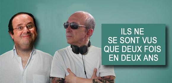 Gérard Collomb et François Hollande. Une si longue absence