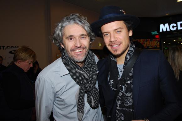 13. Damien Moutard (Agence Lusso) et le chanteur Brice Conrad