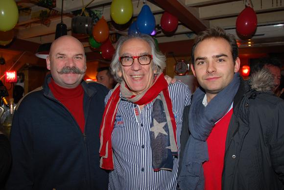 14. Albert (Café du Pond) entouré de Yann et Erwann Eon (Maison Ruinart)