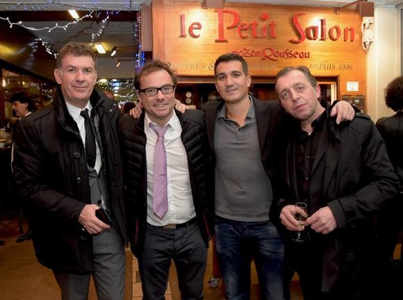 16. Nicolas Winckler (Lyon People), Pierre-Yves Gas (Agence Proxi'com), Olivier Massey (L'Endroit) et Jean-Claude Dicarmine (Bistrot Boeuf)