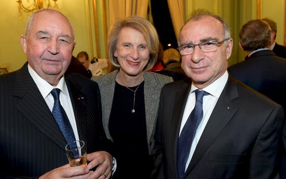 16. Jean-Paul Mauduy, président de la CRCI, Dominique Nachury, député du Rhône et Yves Minssieux, consul de Belgique