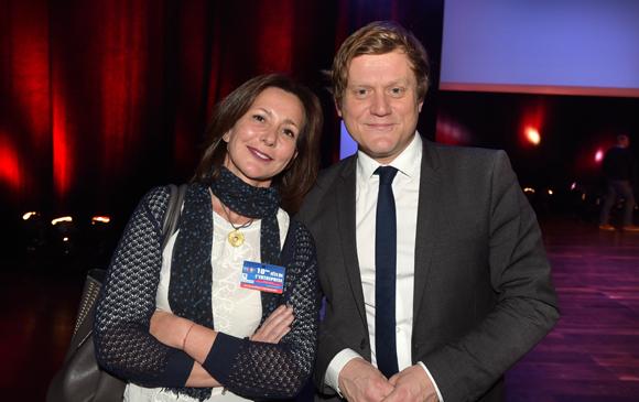 1. Isabelle Salomon (Région Rhône-Alpes) et Benoît Thieulin, président du conseil national du numérique