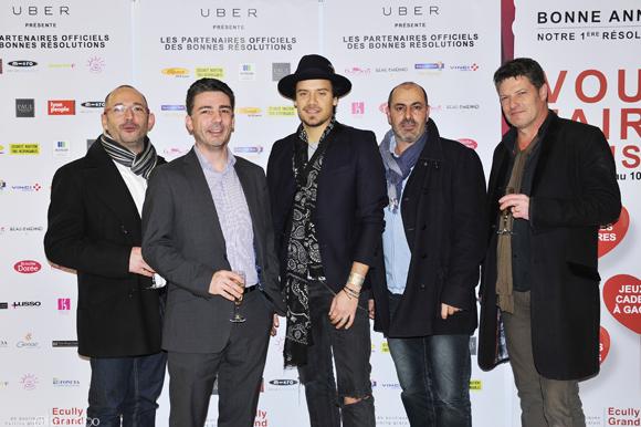 17. Jean Michel, Christophe Chabry, Le chanteur Brice Conrad, Luc et Marc