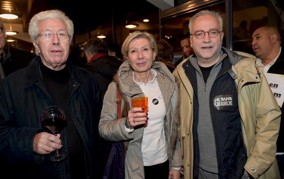 21. Maître André Soulier, Myriam Picot, maire du 7ème   et Jean-Yves Secheresse, adjoint à la Sécurité