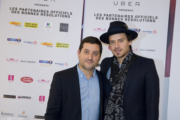 21. Ludovic Elbaz ( Boutique Alexandre) et le chanteur Brice Conrad