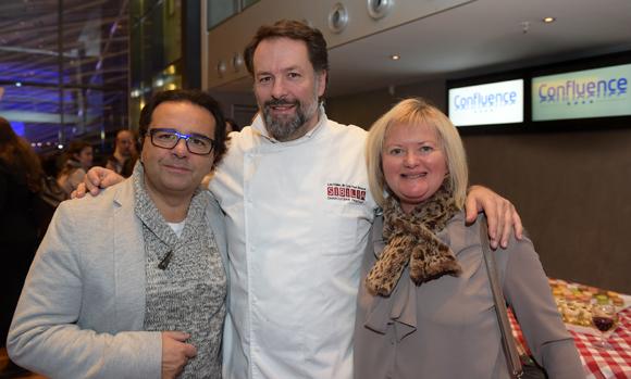 22. Le photographe Chris Rizk, Bruno Bluntzer (Sibilia) et Pascale Descombes
