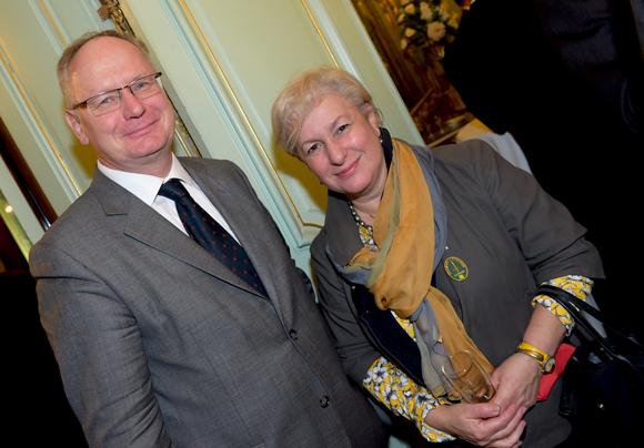 23. Gilles de Bailliencourt, directeur de l'enseignement Catholique et Marie Guyon