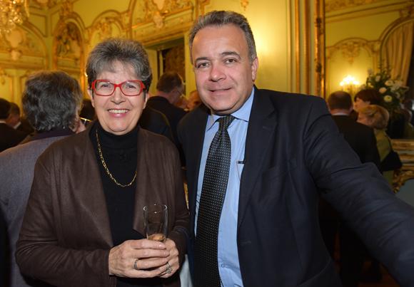 27. Claude Ulrich, président de l'ADOS et Denis Broliquier, maire du 2ème