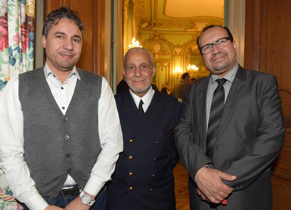 29. Walid Naas (Masstrucks), l'aumonier Laid Bendidi et Benaissa Chana, vice-président du conseil régional du culte musulman Rhône-Alpes