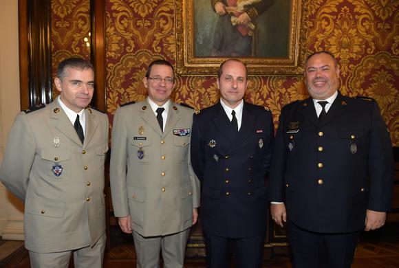 31. Les aumôniers Olivier Risnes, Serge Martorana, Christophe Bail et Judah Berdugo