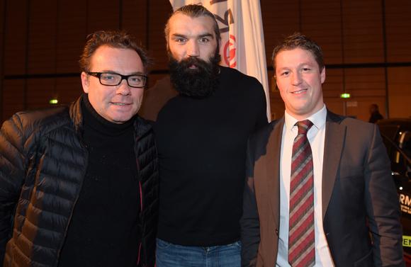 38. Pierre-Yves Gas (Agence Proxi'com), Sébastien Chabal et Mathieu Renaud (LOU Rugby)