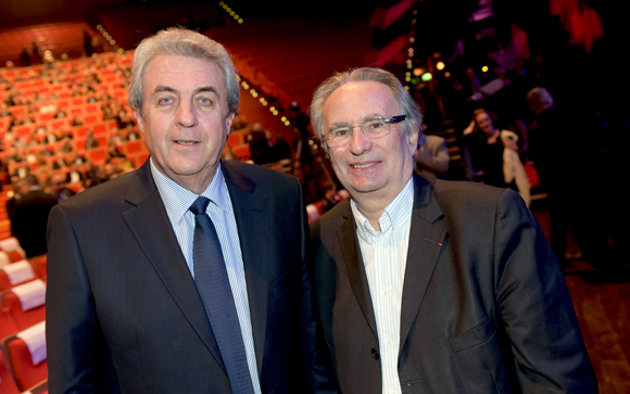5. Maître Richard Brumm, adjoint aux finances et Bernard Rivalta, président du Sytral