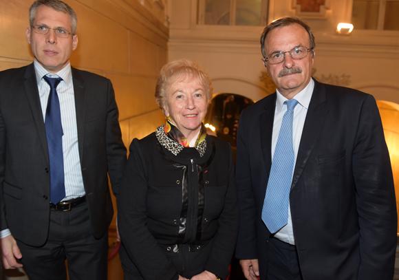 7. Le député Philippe Meunier, Danièle Chuzeville, présidente du Conseil général et Jean-François Carenco, Préfet du Rhône