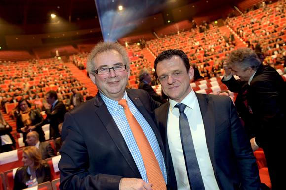 8. Alain Audouard, président de la Chambre de Métiers et Laurent Fiard, président du Medef Lyon-Rhône