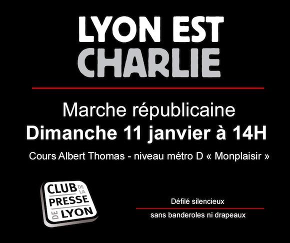 Charlie Hebdo. Défilés républicains à Lyon et à Villefranche dimanche