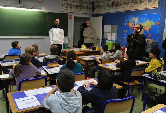 Maxime Gonalons. Retour à l'école primaire