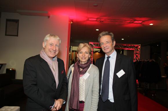21.Denis de Bénazé, fondateur Idrac Lyon, Laurence Lionnet (Idrac Alumni) et Thierry Bourgeron (GL Events)
