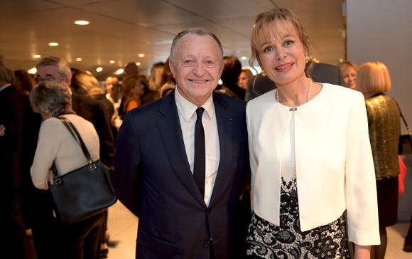 1. Jean-Michel Aulas, président de l'OL et Isabelle Bernard