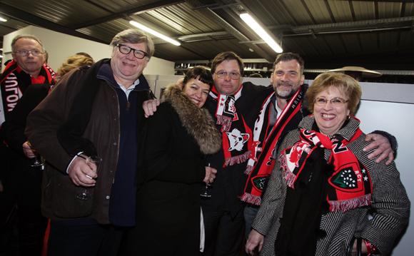 15. Le docteur Jean Renaudin, Laurence Renaudin, Franck Isaac-Sibille (LOU Rugby), Jean-Loup Rogé (Segeco) et Evelyne Hagenhaueur