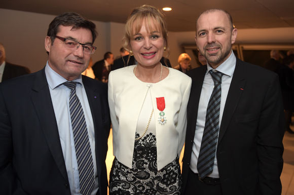 17. Jean-Marc Bailly, président CCI de l'Ain, Isabelle Bernard et Jean-François Debat, maire de Bourg en Bresse