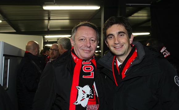 17. Thierry Braillard, Secrétaire d'État aux Sports et Yann Robert, président du LOU Rugby