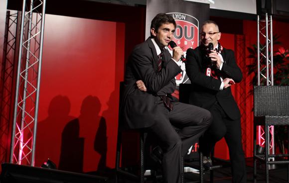 2. Yann Robert, président du LOU Rugby et Jean-Paul Jacquet (Lou Rugby)