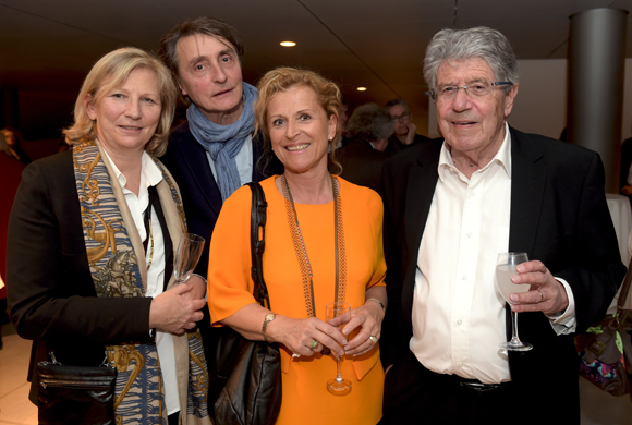 22. L'artiste peintre Gérard Puvis, son épouse Annick, Jean-Pierre Bedu et son épouse Martine