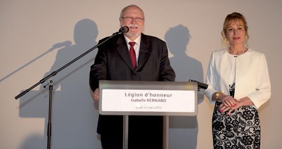 3. Jean-Marc Le Gars, président de la Cour d'Appel administrative de Lyon et Isabelle Bernard
