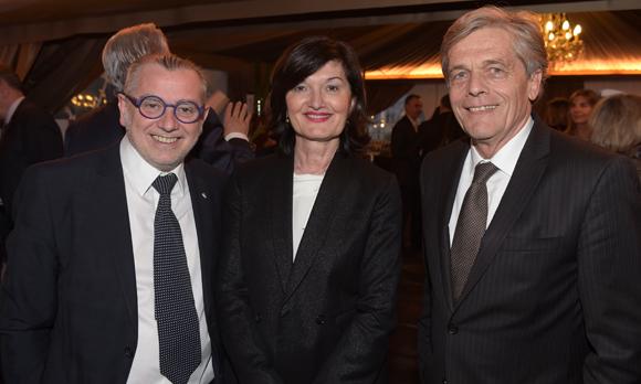 10. Joseph Viola, son épouse Françoise (Daniel & Denise) et Erick Rostagnat (GL Events)