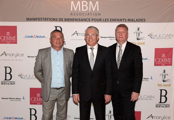 1. Les organisateurs Thierry Monneri, Michel Lopez et Elie Cunat (MBM Association)