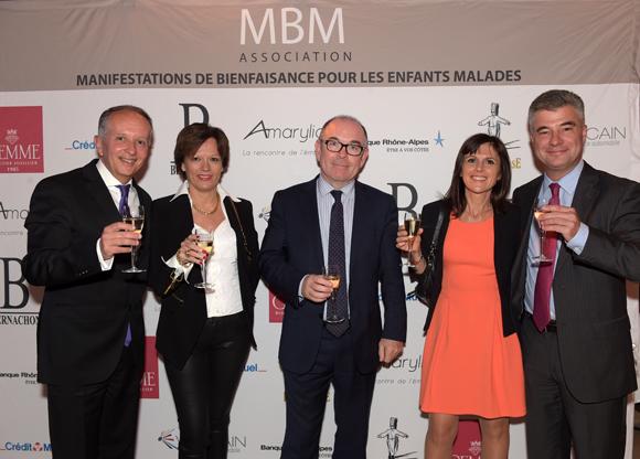 14. Eric Vernusse, son épouse Catherine, Yvon Léa, Eric Lesage et son épouse Sylvaine (Banque Rhône-Alpes)