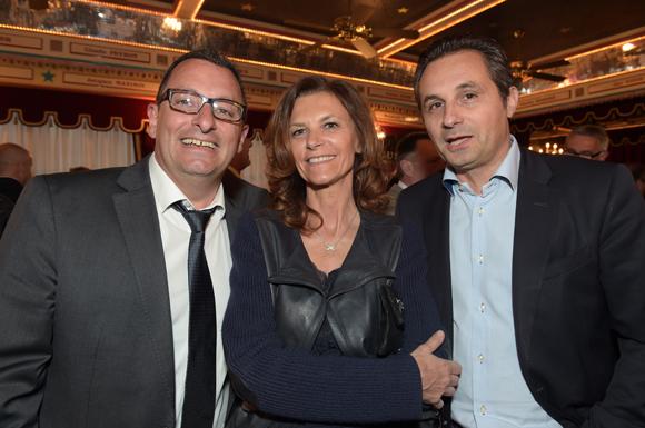 18. Richard Castronovo (Gauduel), Nathalie Cot et son frère Jean-Pierre (Meubles Cot)