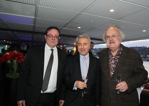 2. Philippe Maisonneuve, directeur du CM Maréchal Lyautey, Jacques Leval, président du CA et Jean-Pierre Bessard