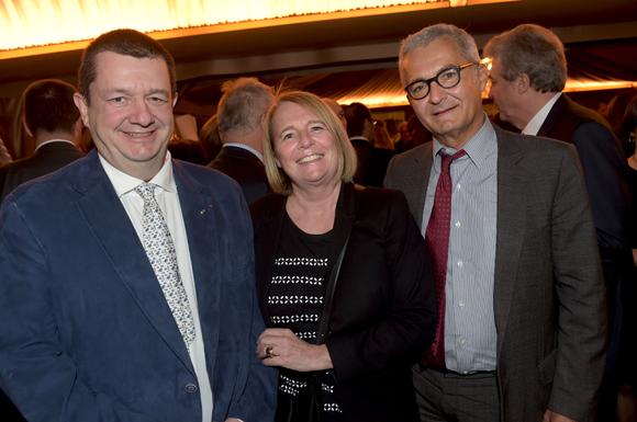 24. Christophe Marguin, président des Toques blanches Lyonnaises, Nathalie Gateau (Apicil) et Maitre Dominique Bremens