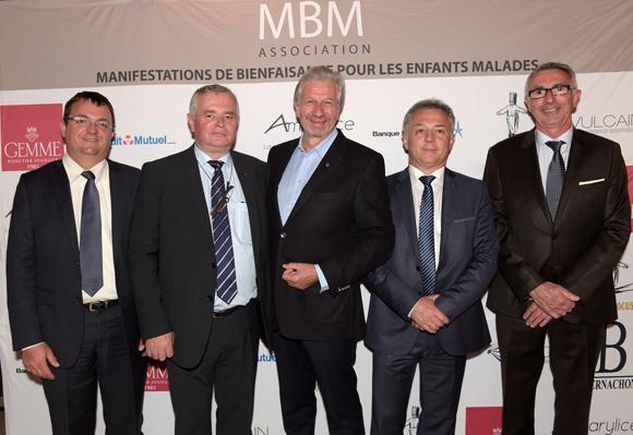 27. Hervé Faivre, Gérard Cormorèche, Claude Polidori (Halles de Lyon), Christian Pont et Johann Howa (Crédit Mutuel)