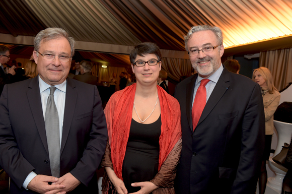 29. Emmanuel Imberton, président de la CCI de Lyon, Erick Roux de Bézieux (Syntagme) et son épouse Elodie, conseillère municipale