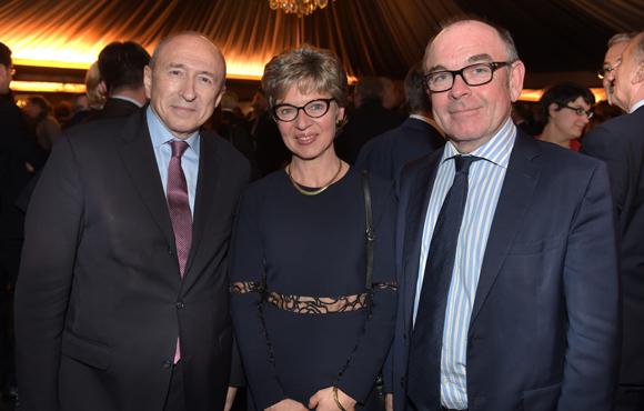 30. Gérard Collomb, sénateur-maire de Lyon, Yvon Léa, président de la Banque Rhône-Alpes et son épouse Nadine