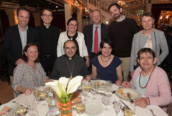 35. La table d'honneur présidée par le cardinal Philippe Barbarin