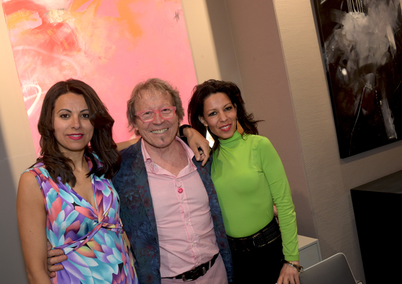 37. La comédienne Fatia Chanelet, l'artiste Peintre Dominique Grégoire et la danseuse orientale Leïla