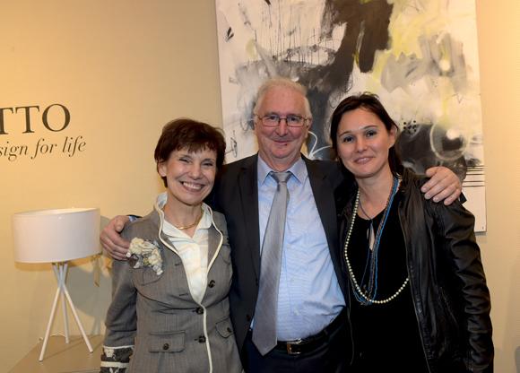 41. Jacques Collange, son épouse Marie-Claude et leur fille Sandrine Chausson (Raphaele Mobilier Contemporain)
