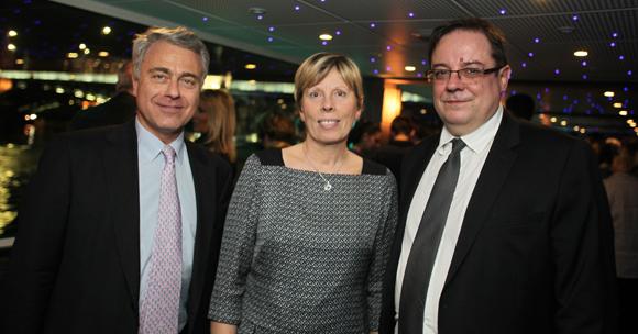 4. Jacques Leval, président du CA Crédit Mutuel Maréchal Lyautey, Corine Esmonin (Crédit Mutuel) et Philippe Maisonneuve, directeur