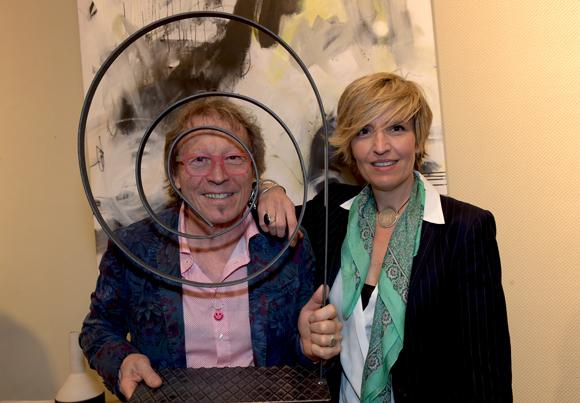 42. L'artiste peintre Dominique Grégoire et sa compagne Muriel Delanoue (Oui Art)