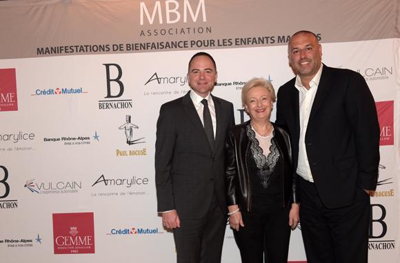 4. Vincent le Roux (Restaurant Paul Bocuse), Renée Richard (La Mère Richard) et le chocolatier Philippe Bernachon