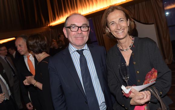 45. Yvon Léa (Banque Rhône-Alpes) et Caroline Courtiade, présidente Chambre des Notaires du Rhône
