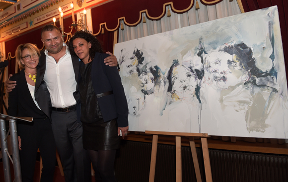 57. Simon Hoayek (Byblos) et son épouse Marie-Alice, acquéreurs de l'œuvre de Nora Boudjemaï
