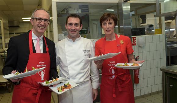 65. Jacques Bourguignon, directeur général Sofitel Lyon Bellecour, Le Chef de Cuisine Jean-François Malle et Christine Dubus (Mazars)