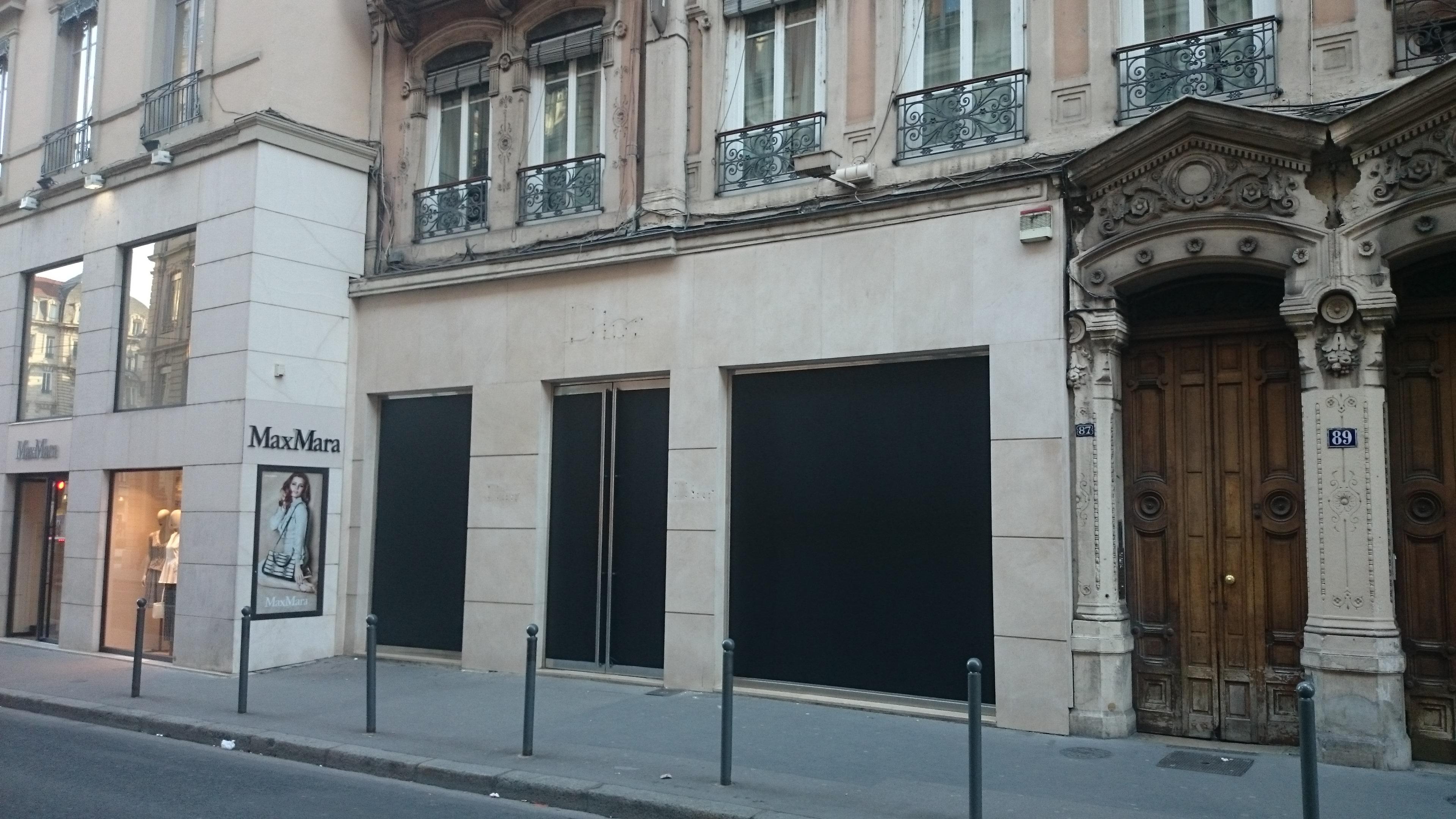 Dior Lyon. Fermeture éclair