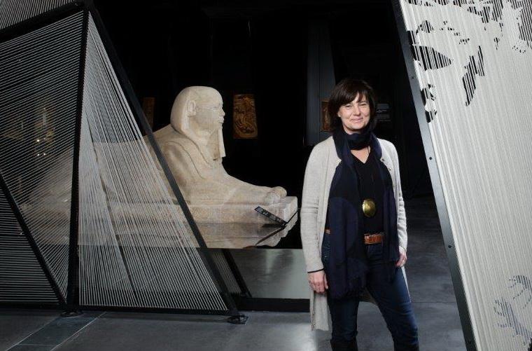 Musée des Confluences. Hélène Lafont-Couturier sur un nuage